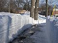FEMA - 40252 - Path cut through a snow bank in Fargo, North Dakota.jpg