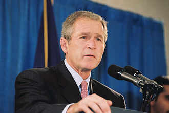 Timeline of the presidency of George W. Bush - President Bush outlines the path of the US in the aftermath of the September 11 attacks while talking to FEMA employees, October 1, 2001