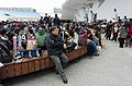 FF25 Visitors Rest at Court of Expo Dome in Afternoon 20150131a.jpg