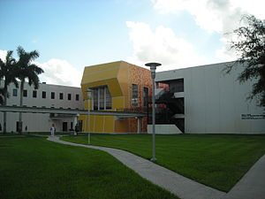 Florida International University School of Architecture - The Paul Cejas Architecture Building, designed by Bernard Tschumi in 2001, is the home of the FIU School of Architecture