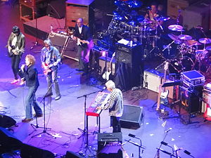 Ian McLagan - McLagan (front) with reunited Faces at the Royal Albert Hall, October 2009