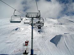 The Ruined Castle chairlift and terrain park
