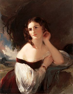 Opening of the Liverpool and Manchester Railway - Image: Fanny Kemble by Thomas Sully, 1834