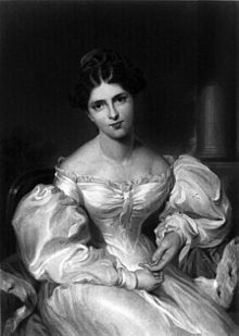 Engraving of Fanny Kemble (Source: Wikimedia)