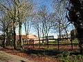 Farm sheds across paddock - geograph.org.uk - 706388.jpg