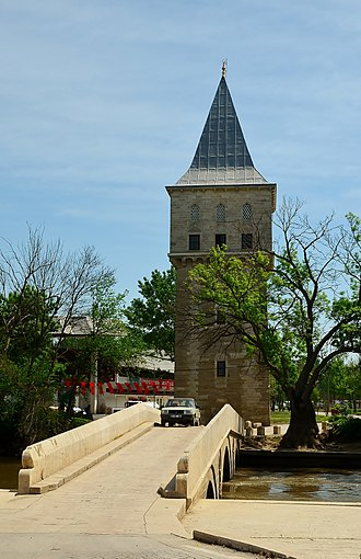 Fatih Bridge - Fatih Bridge over the Tunca and Kasr-ı Adalet (Justice Pavilion) in the background.