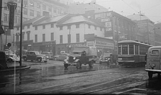 Streetcars in Montreal - Tram on Craig Street East and St. Laurent Boulevard