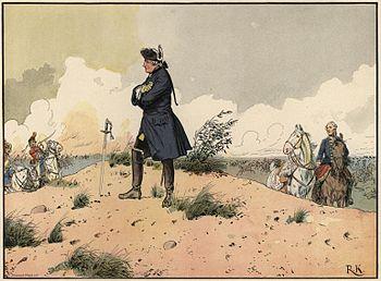 Friedrich II after the lost battle near Kunersdorf