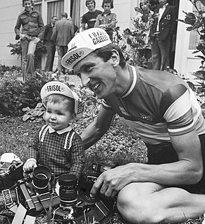 Fedor den Hertog - Fedor den Hertog with daughter in 1977