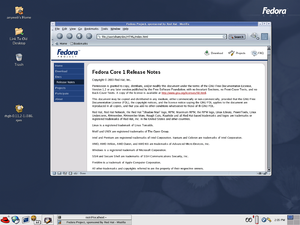 Fedora (operating system) - Fedora Core 1 with GNOME version 2.4 (2003)