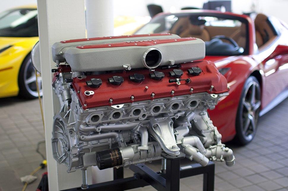 Ferrari Tipo F140C V12 engine display