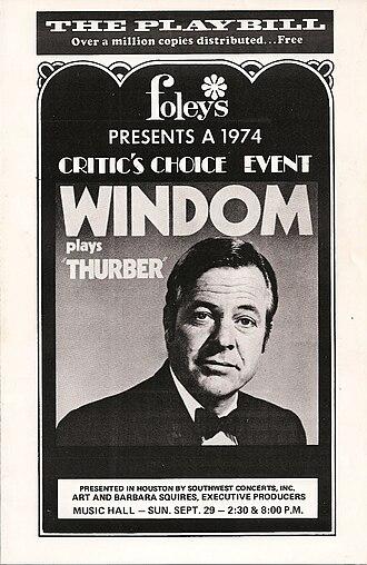 William Windom (actor) - Playbill: Windom Plays Thurber