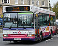 First Somerset and Avon bus 42557 (WX05 UAO), 2005 Alexander Dennis Dart, Bath, October 2010.jpg
