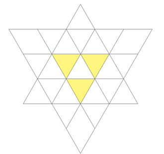 Compound of cube and octahedron - Image: First stellation of cuboctahedron trifacets