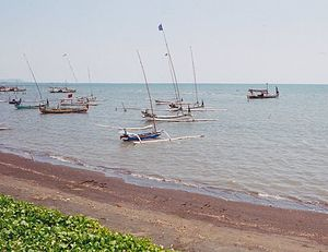 Fishing boats on Bali in Indonesia.jpg