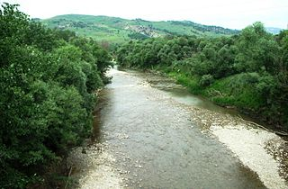 Fortore river in Italy