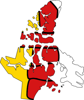 Flag Map of Nunavut.png