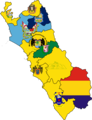 Flag map of provinces of Lima Department.png