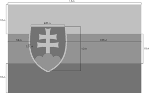 Flag of Slovakia - Image: Flag of Slovakia, construction sheet