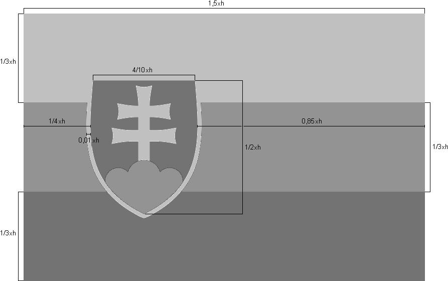 Flag of Slovakia, construction sheet