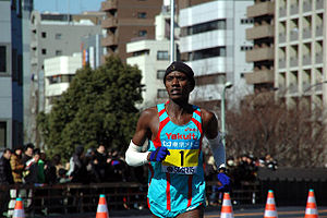 Daniel Njenga - Njenga in the 2008 Tokyo Marathon.