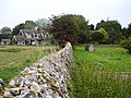 Flint churchyard wall, Throwley - geograph.org.uk - 240463.jpg