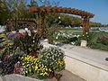 Flowers and pergola. - Tagore Promenade, Balatonfüred.JPG