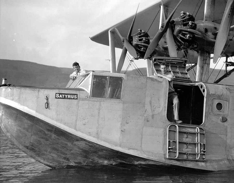 Flying boat Satyrus on Sea of Galilee showing a close-up. 1931 Oct. matpc.15805