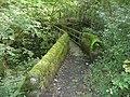Footbridge over Maple Dean Clough, Norland - geograph.org.uk - 1464098.jpg