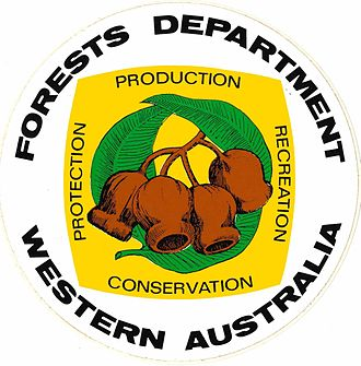 Forests Department (Western Australia) - Image: Forests Department (WA) logo sticker