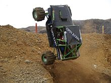 Formula Off Road Truck Driving Up A Slope