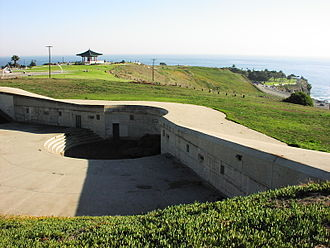 Fort MacArthur - Battery Farley, with the Korean Bell of Friendship in the background