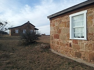Fort Chadbourne - Image: Fort Chadbourne Officer's Quarters