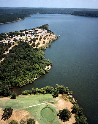Neosho River - Fort Gibson Lake and Sequoyah State Park on the Grand River in Cherokee County, Oklahoma