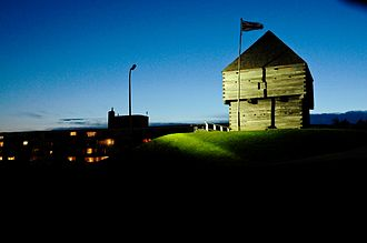 National Historic Sites of Canada - Fort Howe in Saint John, New Brunswick; its designation in 1914 marked the beginning of the emerging system of National Historic Sites