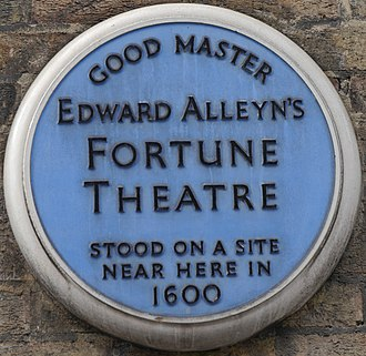 Fortune Playhouse - Plaque in Fortune Street, London