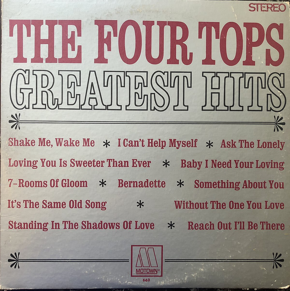 The Four Tops Greatest Hits - Wikipedia