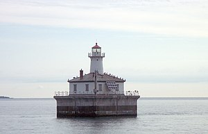 National Register of Historic Places listings in Cheboygan County, Michigan - Image: Fourteen Foot Shoal Light Cheboygan Michigan