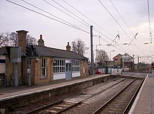 Foxton railway station - Platform 1, for London Kings Cross