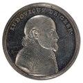 Framsida av medalj med Louis De Geer i profil - Skoklosters slott - 99423.tif