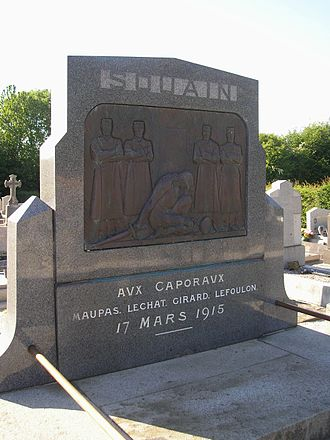 Souain corporals affair - The memorial to the four executed corporals at Sartilly, in Normandy