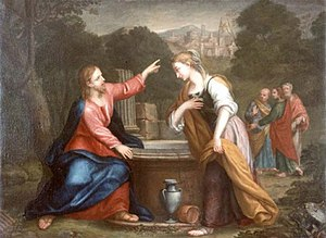 Samaritan woman at the well - Image: Franceschini, Giacomo Gesù e la Samaritana al pozzo