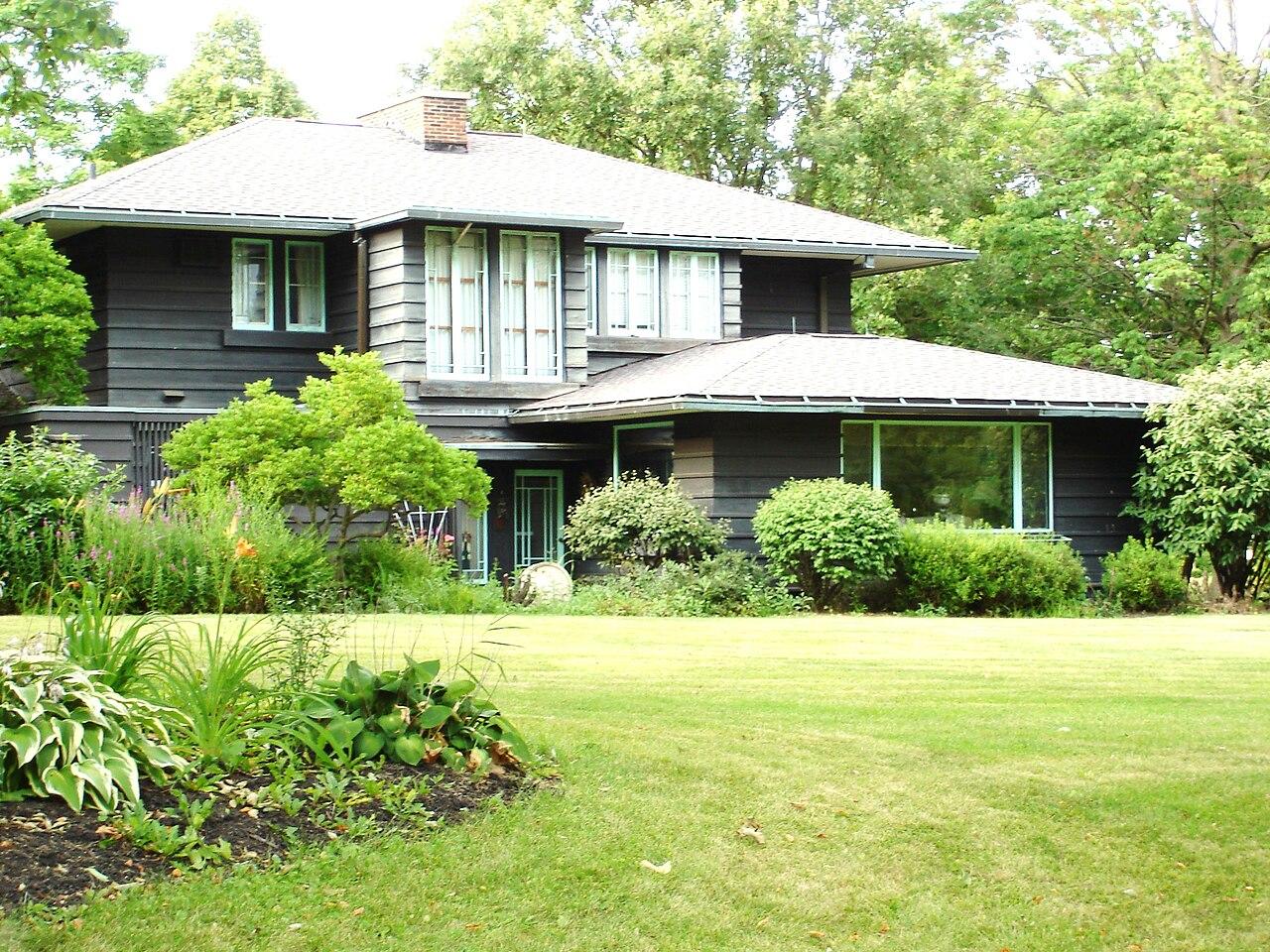 Frank Lloyd Wright Prairie Houses file:frank lloyd wright prairie style marysville - wikimedia