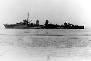 Free French destroyer Léopard on 6 June 1942
