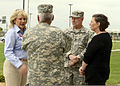 From left, Oklahoma Gov. Mary Fallin discusses tornado damage with U.S. Army Maj. Gen. Myles Deering, the adjutant general for Oklahoma, Gen. Frank Grass, the chief of the National Guard Bureau, and Patricia 130528-Z-TK779-047.jpg