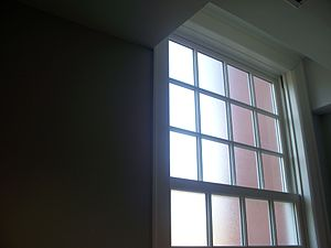 Frosted glass - Frosted glass windows used in a restroom