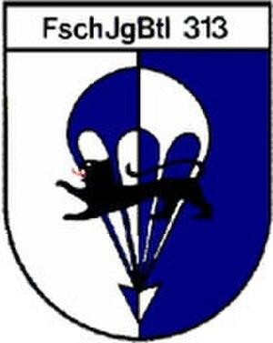 31st Airborne Brigade (Bundeswehr) - Internal formation sign Fallschirmjägerbataillon 313