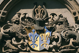 Jakob Fugger - Coat of arms of the Fugger of the lily family, granted in 1473