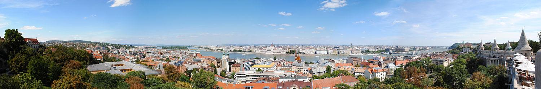 Panorama van de skyline van Boedapest