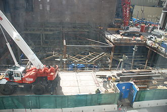 Fulton Center - Construction site of the Fulton Center Main Building, seen in March 2010